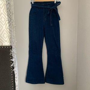 Flee market flare high waisted pants sz 27